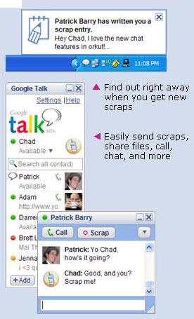 Gtalk Orkut integration