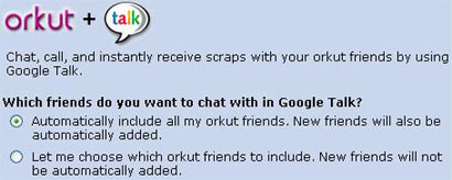Orkut with Gtalk