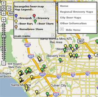 California Beer Map on BeerMapping.com