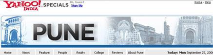 City of Pune on Yahoo India