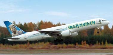 Iron Maiden Jet plane 757