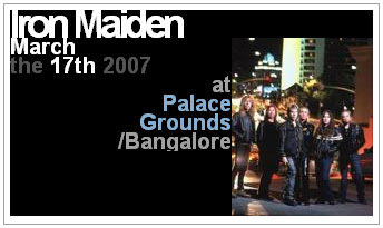 Iron Maiden Bangalore 17th March