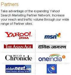 Yahoo! India Search Marketing Partner Network